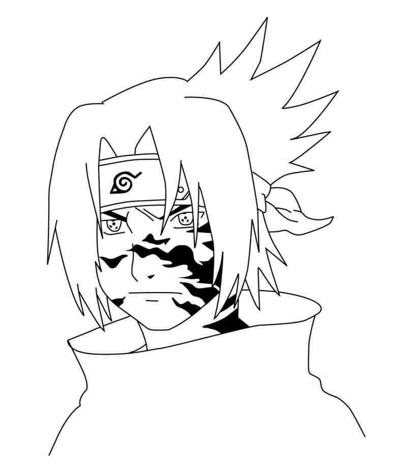810x916 Naruto Sasuke Drawing Curse Mark By Rollingdice On Lv