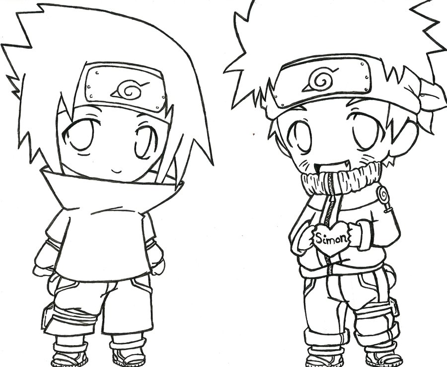 It's just a picture of Unusual naruto and sasuke coloring pages