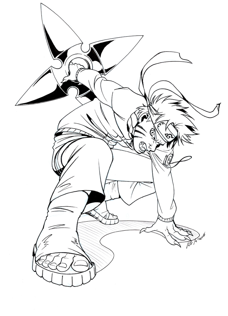 Dorable Naruto Para Colorear Imprimible Molde - Dibujos Para ...