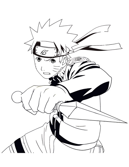 502x650 Naruto Shippuden Coloring Pages To Print Anime