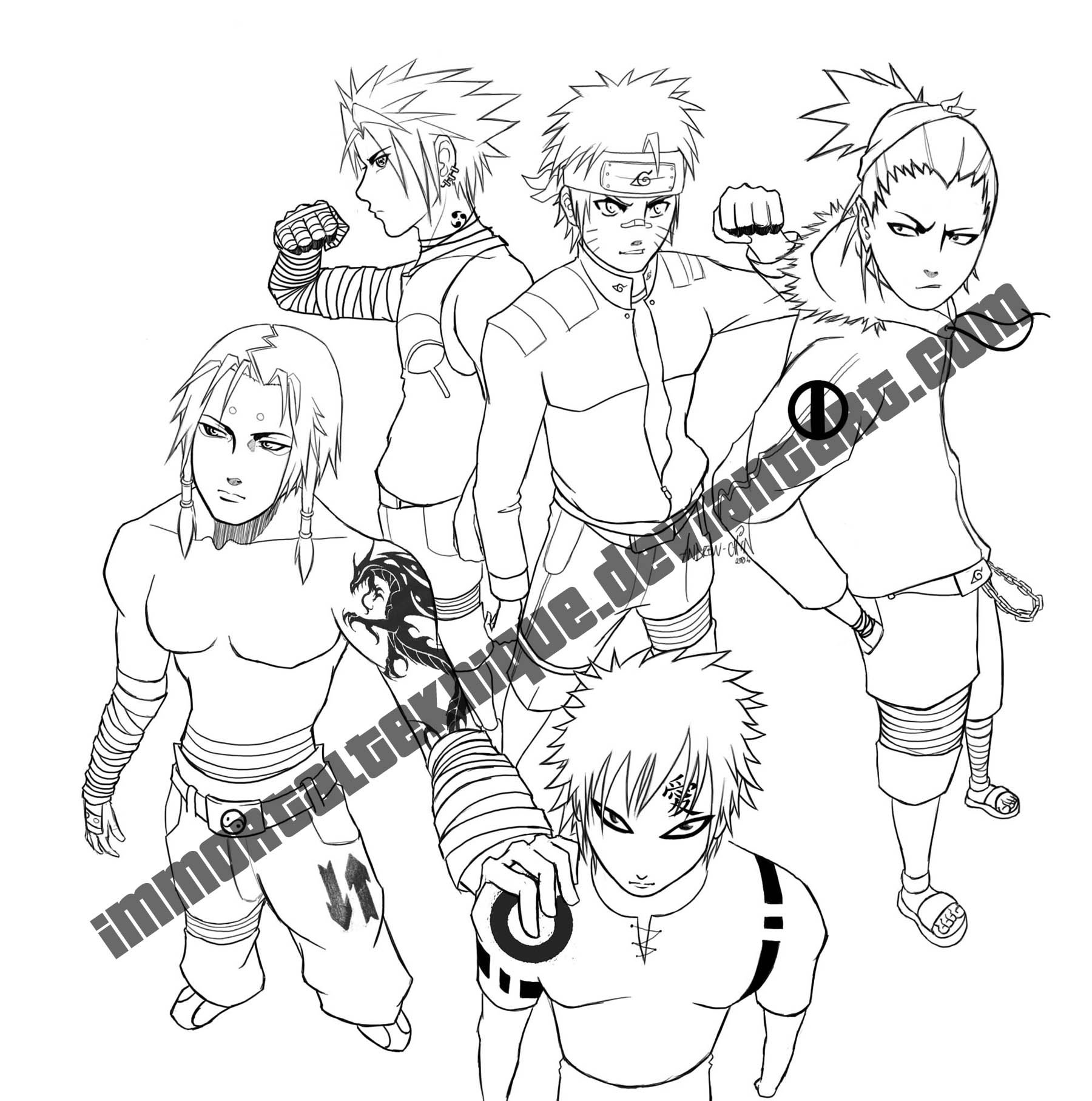 Naruto Style Drawing At Getdrawings