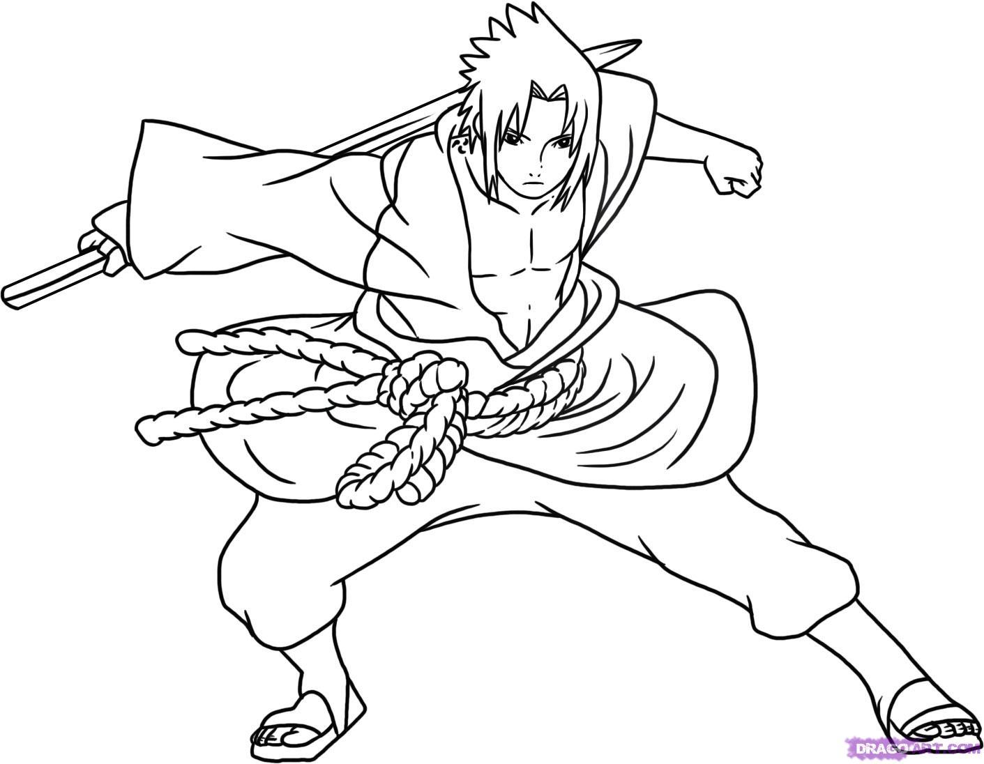 1411x1096 Naruto Vs Sasuke Coloring Pages Free Printables