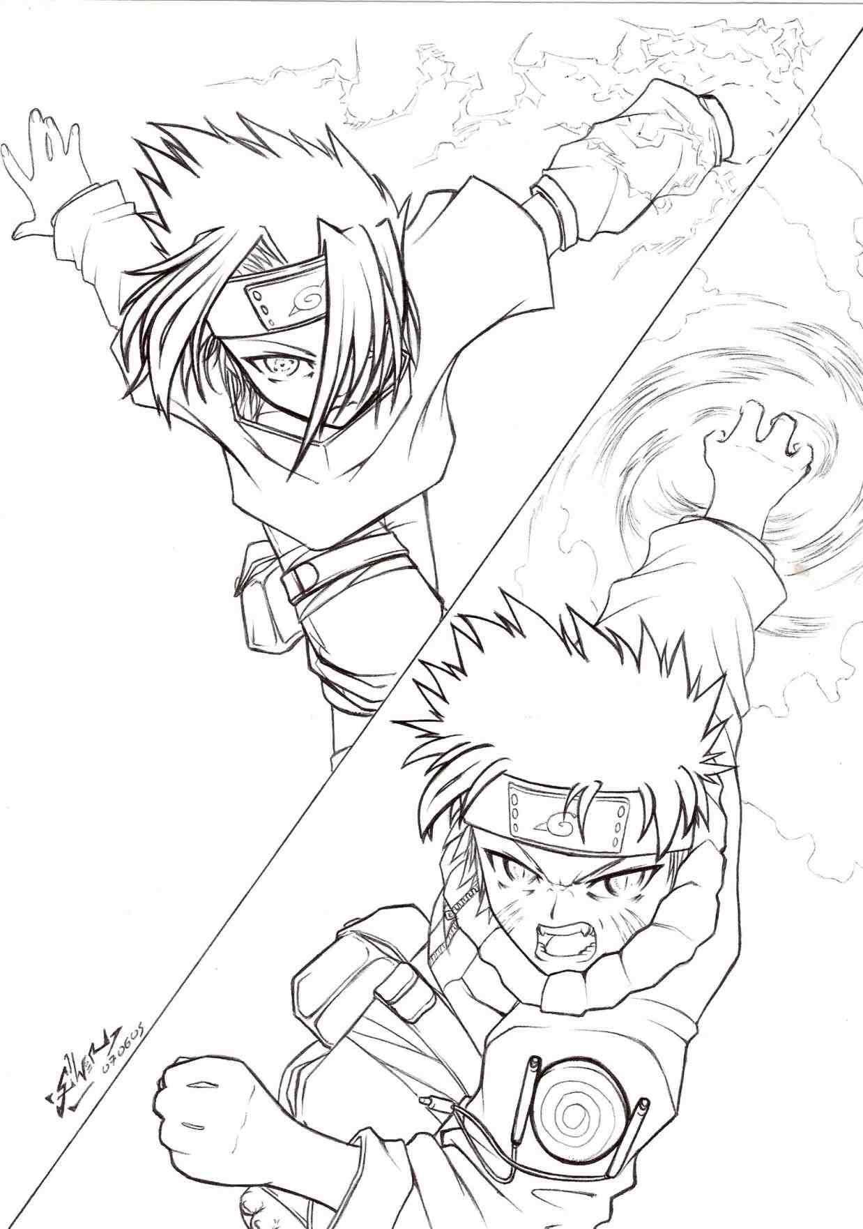 1238x1762 Naruto Vs Sasuke Rasengan Vs Chidori Drawing Drinkeats.club