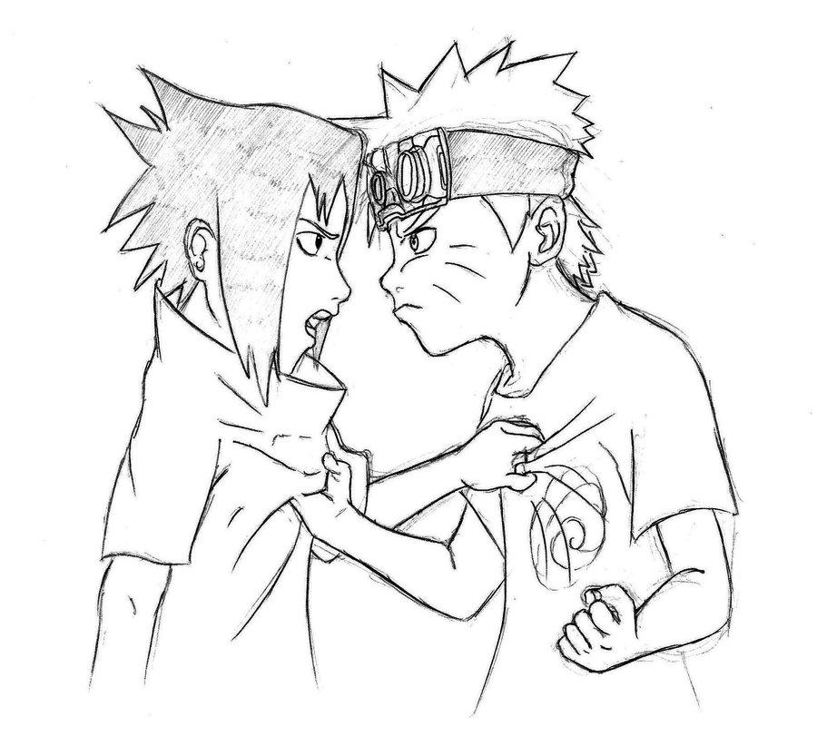900x811 Naruto Vs Sasuke By Blacklist90