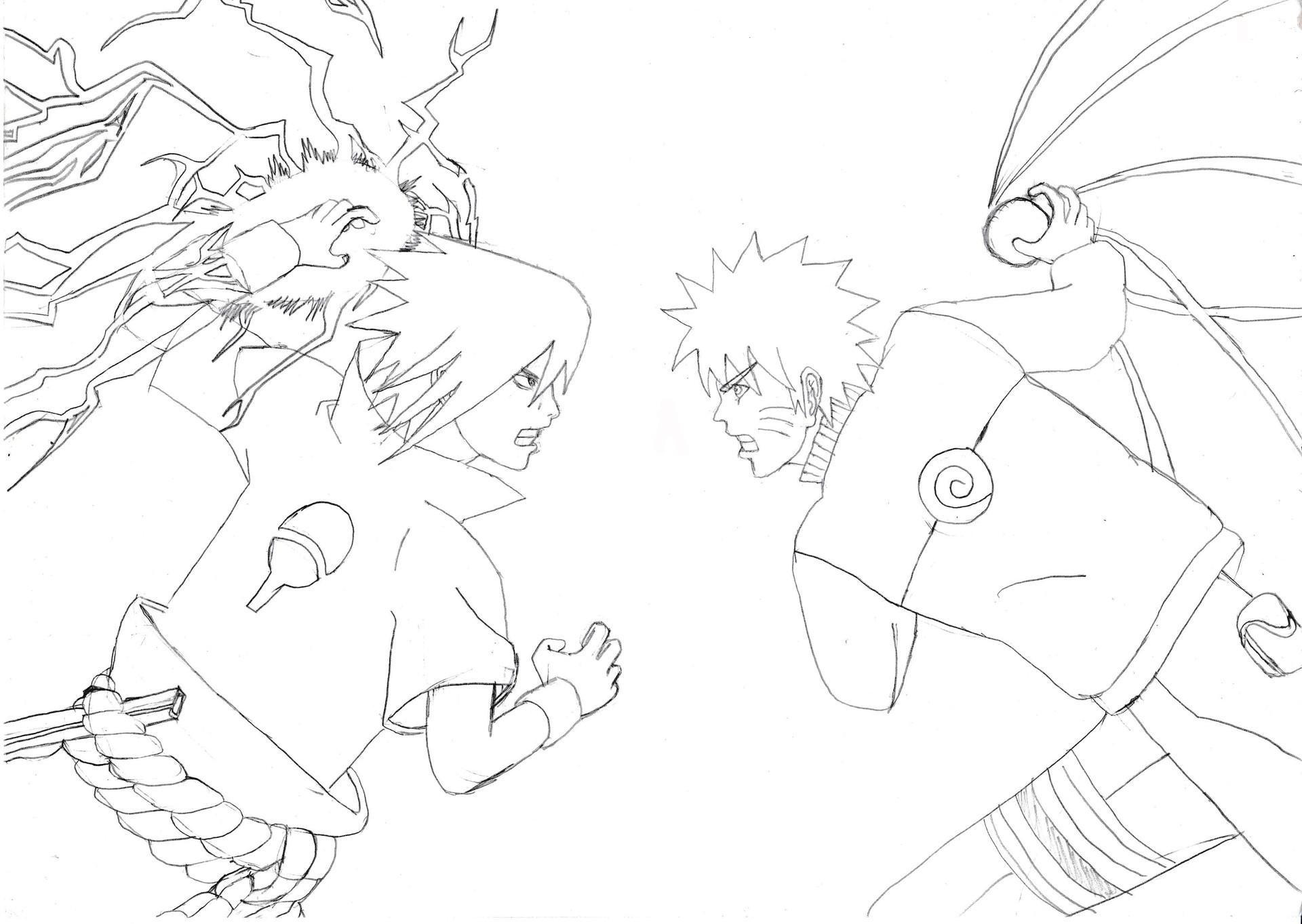 Naruto Vs Sasuke Drawing at GetDrawings | Free download