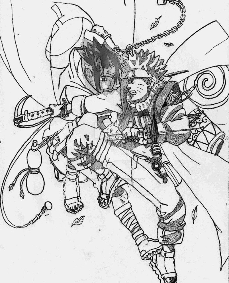 804x993 Naruto Vs Sasuke By 420 Mugiwara