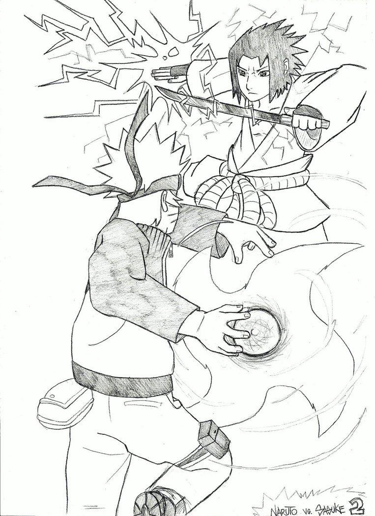 763x1048 Naruto Vs Sasuke By Asten 94