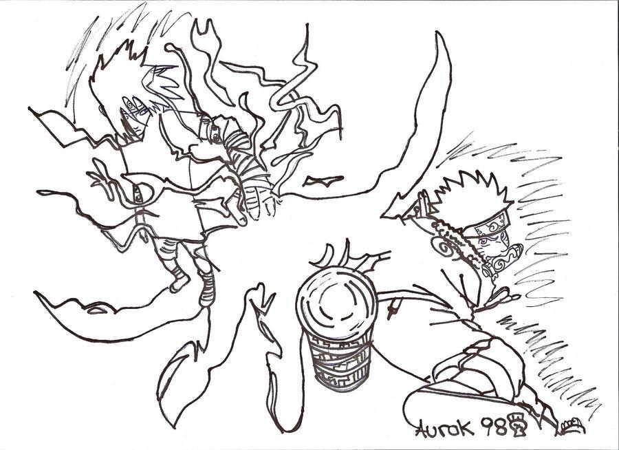 900x654 Naruto Vs Sasuke By Aurok98