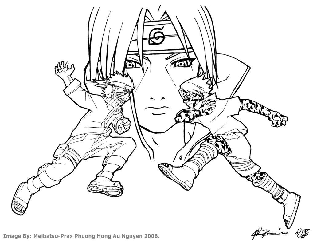 1019x784 Naruto Vs Sasuke W. Itachi Bg By Meibatsu