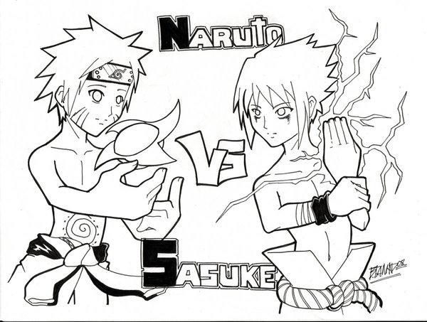 600x453 Naruto.vs.sasuke By Luvmahhands