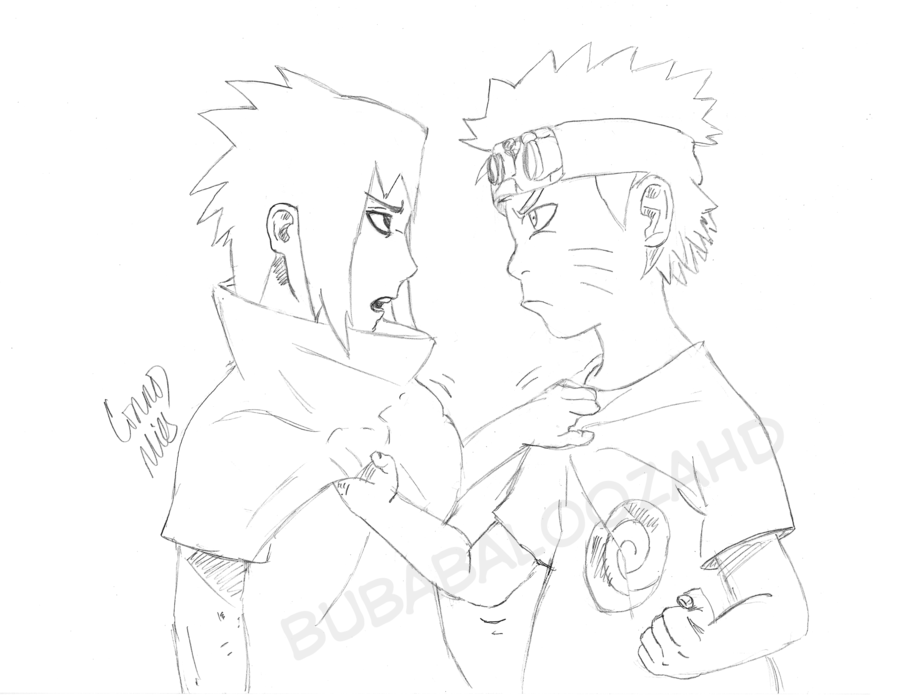 900x696 Young Naruto Vs Young Sasuke By Bubabaloozahd
