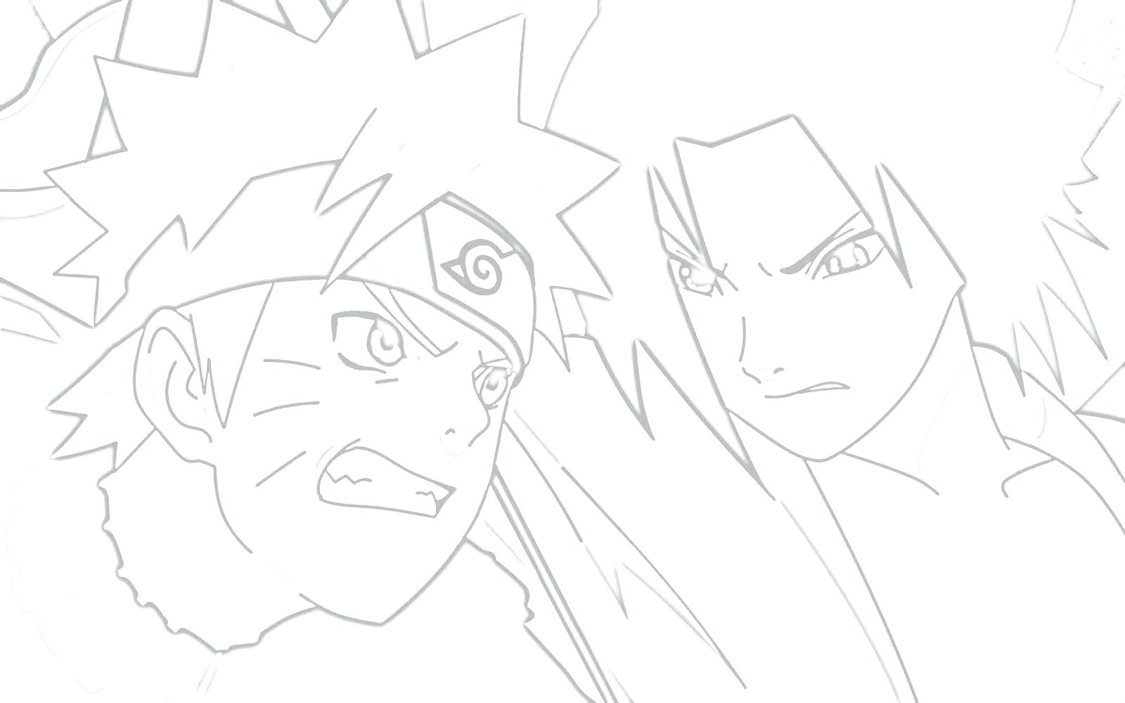 1600x1000 Coloring Naruto Vs Sasuke Coloring Pages
