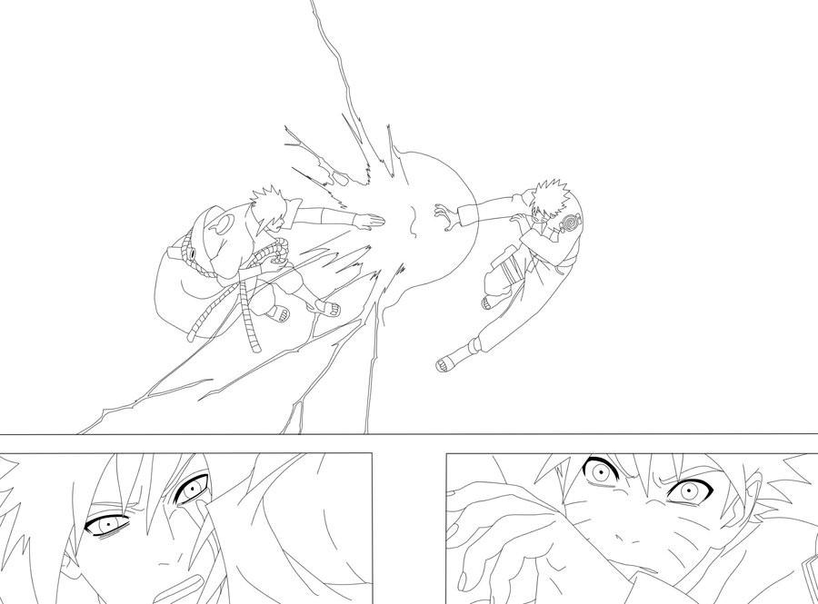 900x665 Naruto And Sasuke Coloring Pages Coloring Sasuke