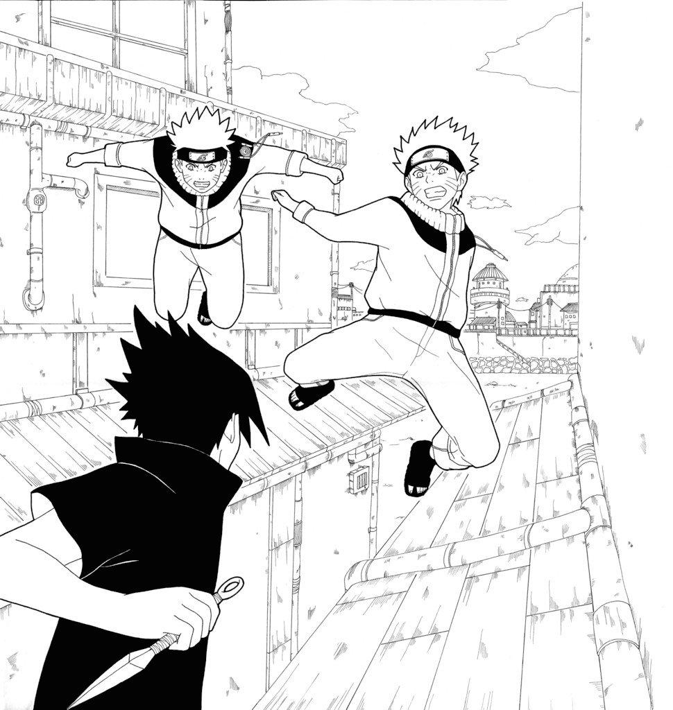 970x1024 Naruto Vs Sasuke By B2zoo