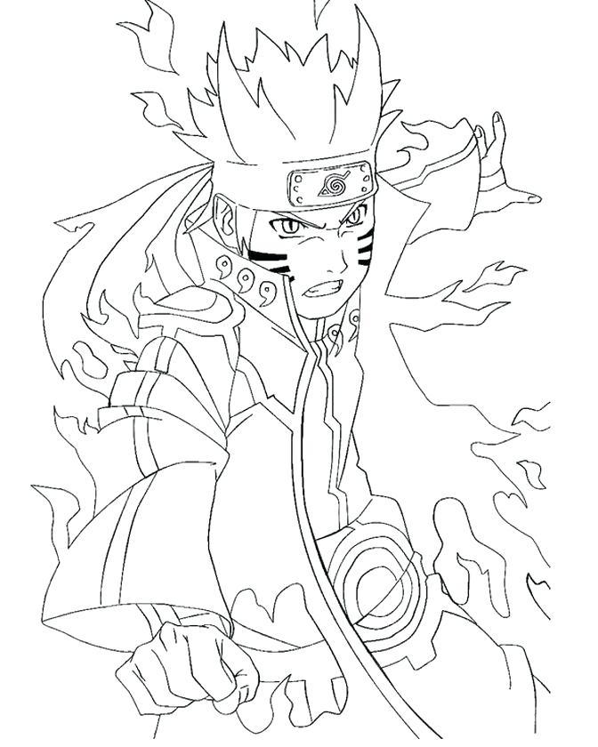 672x840 Naruto Vs Sasuke Coloring Pages Genesisar.co
