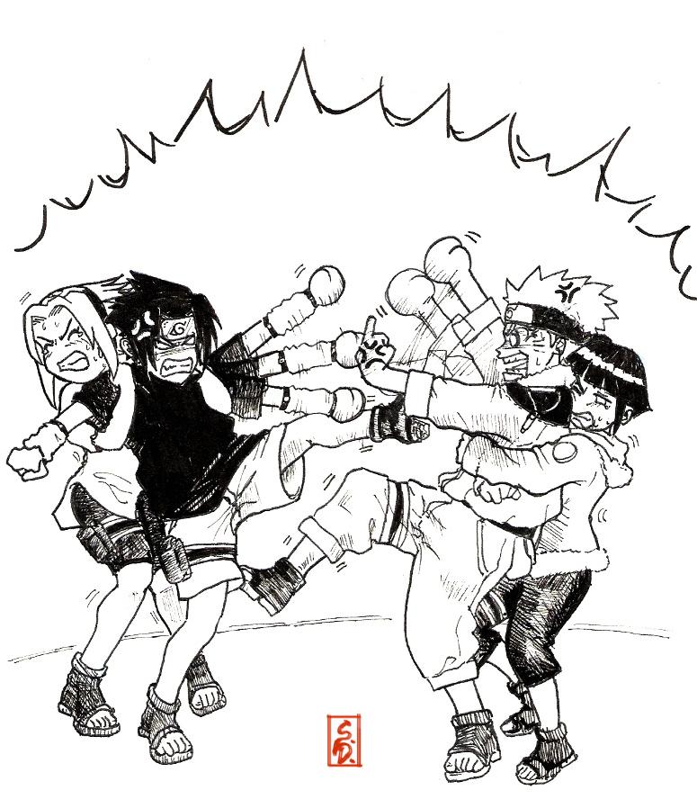 775x898 Catfight Naruto Vs Sasuke By Sharingandevil