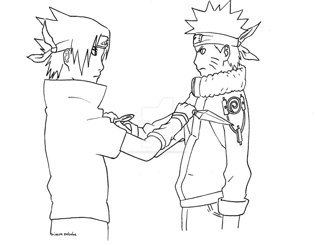 1013x789 In Progress 1) Young Naruto Vs Sasuke By Gsparrowdeathlegend