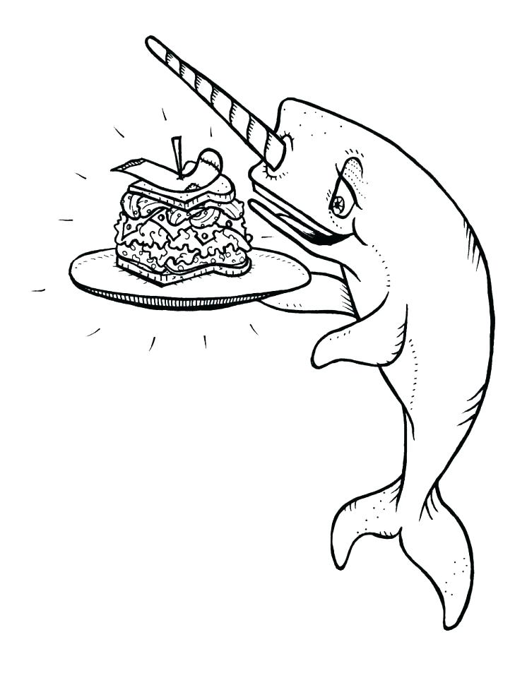746x960 Narwhal Coloring Pages Miss Piggy Coloring Pages Free Animated