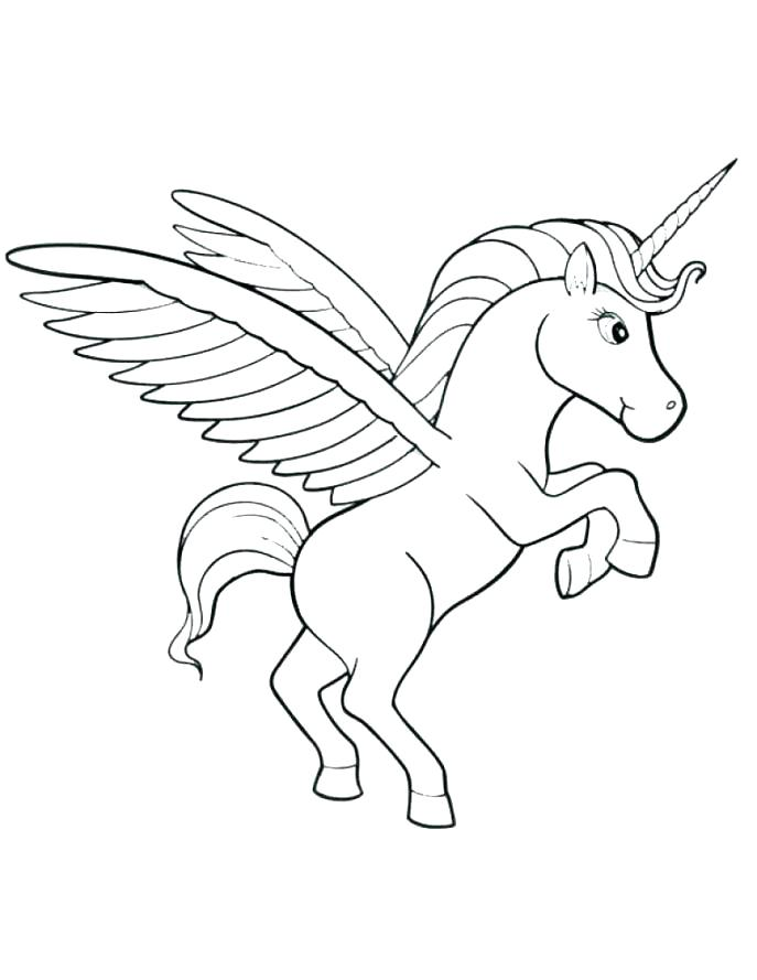 687x889 Cute Unicorn Coloring Pages Printable
