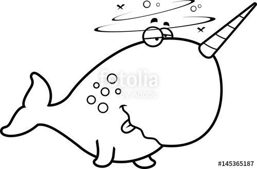 500x330 Cartoon Drunk Narwhal Stock Image And Royalty Free Vector Files