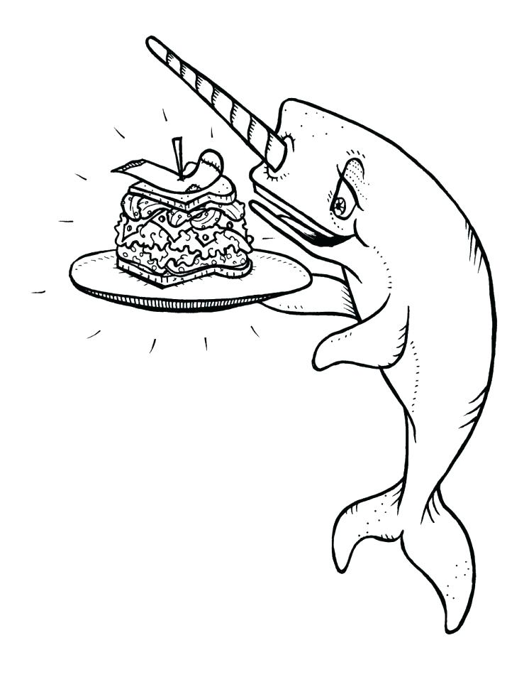 746x960 Miss Piggy Coloring Pages Narwhal Color Narwhal Coloring Pages