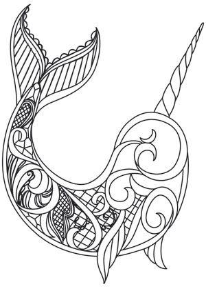 300x419 Dark Narwhal Design (Uth13422) From Crafts