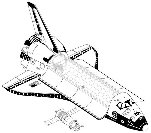 600x530 Space Shuttle Coloring Pages. Free Space Shuttle With Space