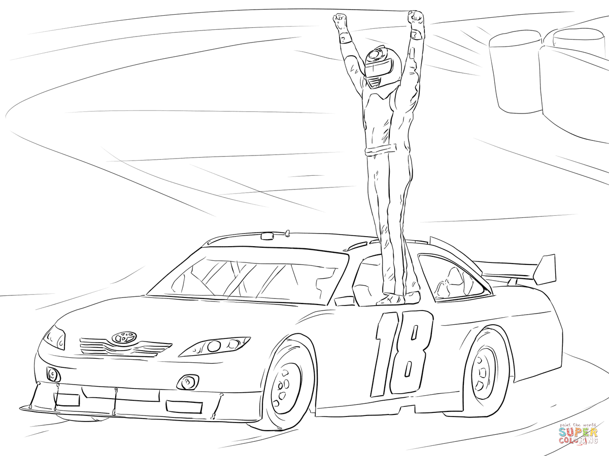1200x900 Kyle Busch Victory Celebration Coloring Page Free Printable