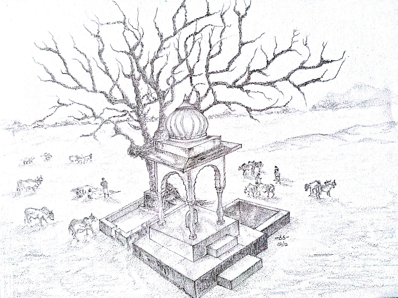 Nataraja Drawing