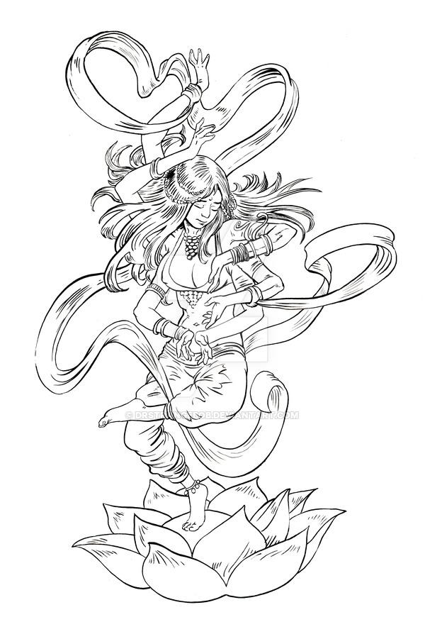600x870 Kali Or Is It Shiva By Drstrangebob