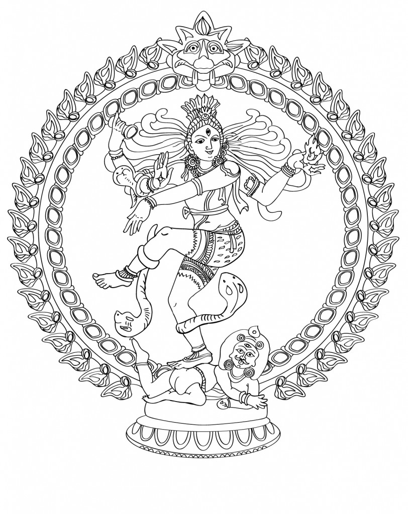 812x1024 Nataraja Lord Of The Dance Coloring Page