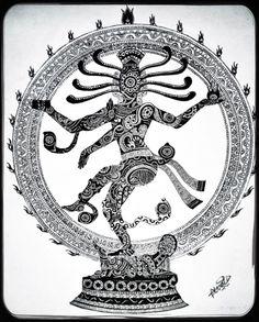 236x293 Nataraja In Sketching By K C Vamshi Krishna Classical Nritya