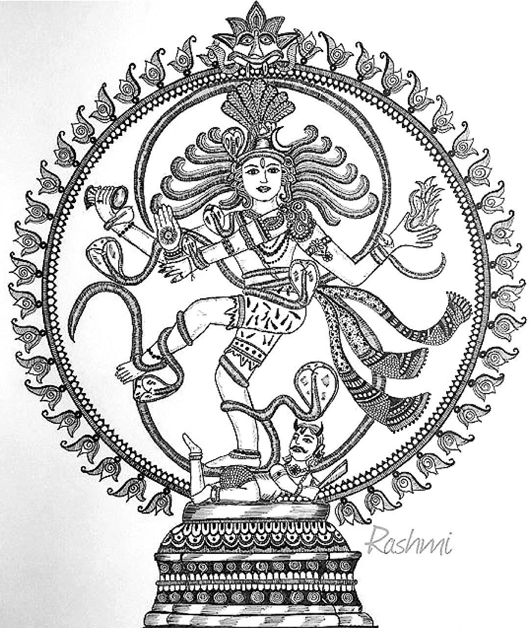 1085x1280 Om Namah Shivay Nataraj