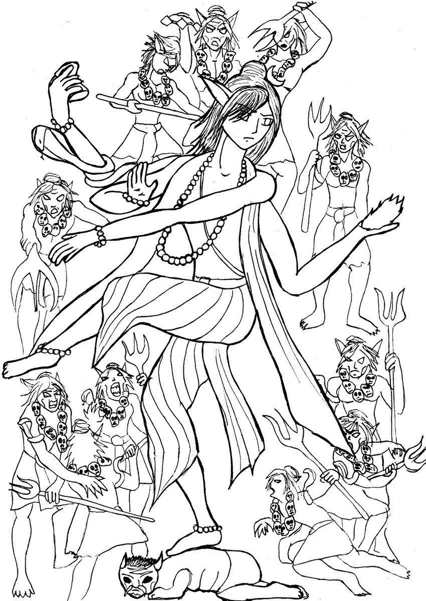 850x1200 Shiva Nataraja By The Blackat