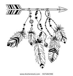 236x246 Dreamcatcher With Arrow And Feathers. Native American Indian
