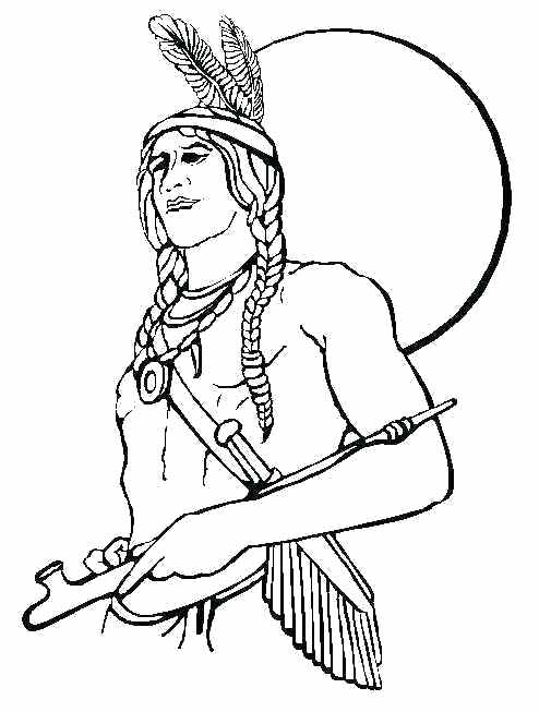 494x653 Indian Arrow Coloring Pages For Kids