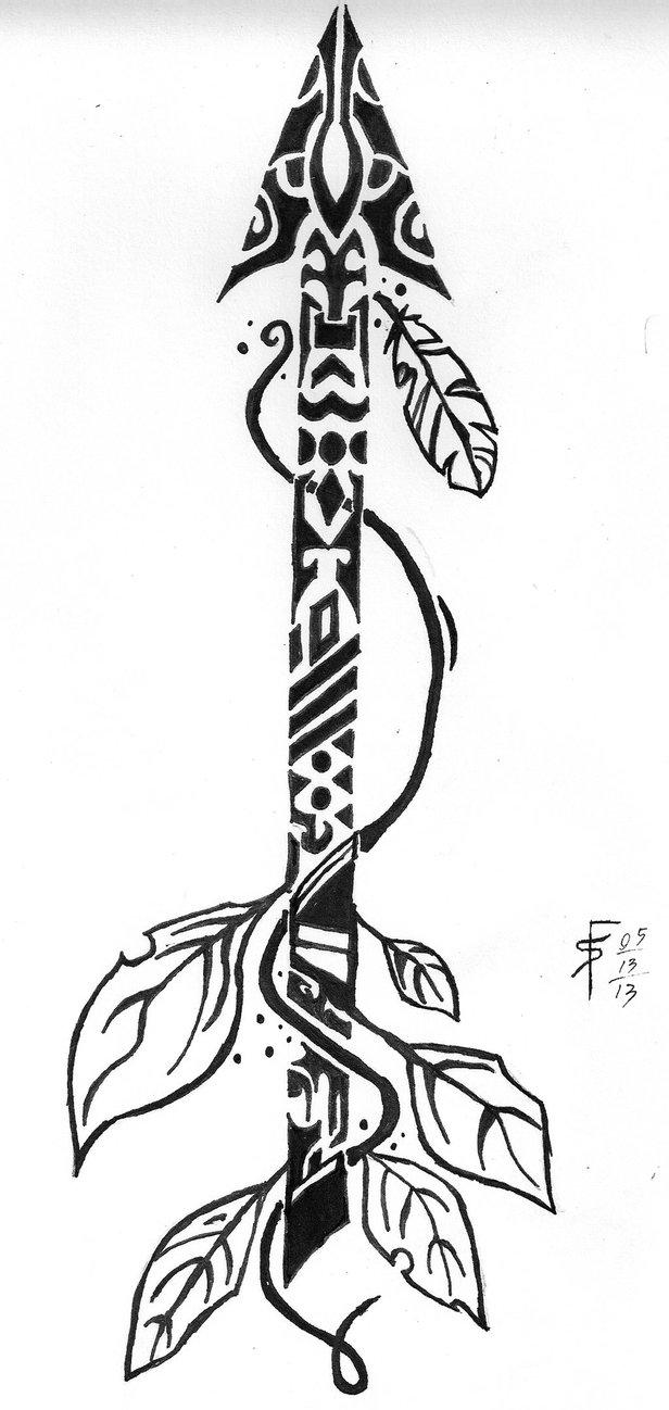 616x1298 Tribal Arrow By Draconistheory