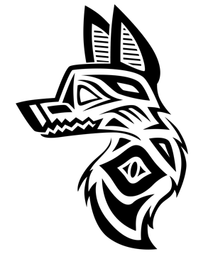 300x358 Native American Inspired Wolf Head Tattoo By Anewchapter