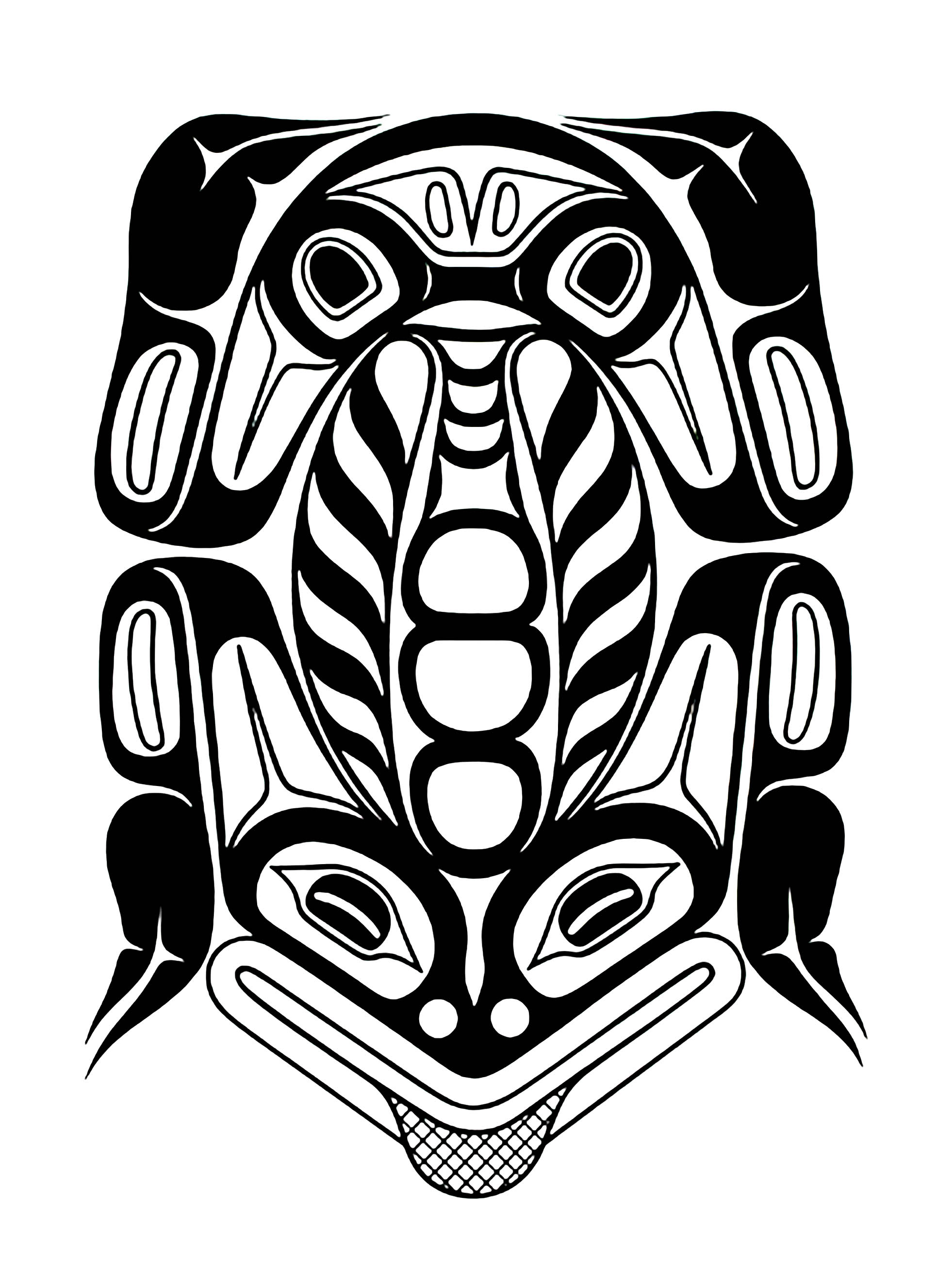 1962x2632 Art Northwest Coastal People Northern Frog Native American Art