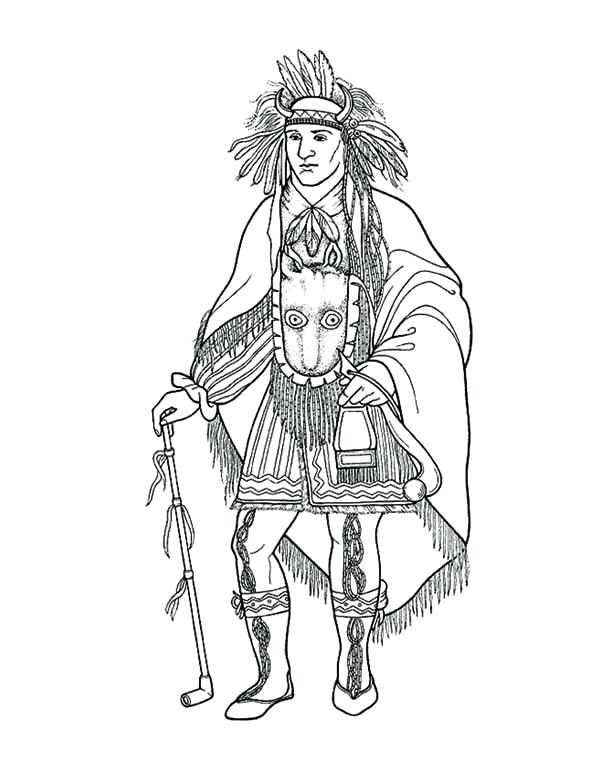600x777 Native American Coloring Pages Free Website Inspiration Native