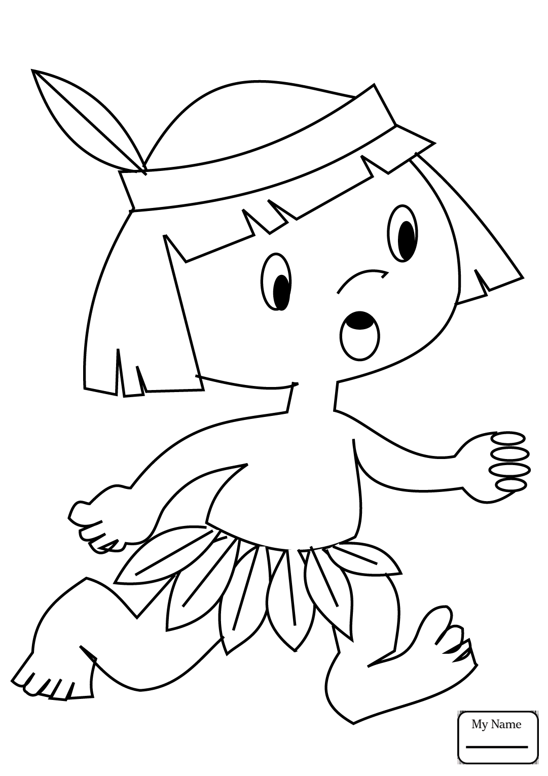 1081x1530 Coloring Pages For Kids Native Americans Cartoon Indian Chief