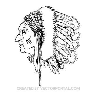 Native American Chief Drawing