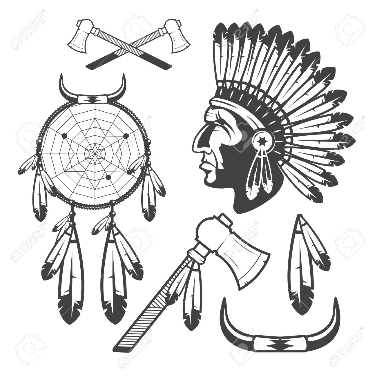 1300x1300 Chief Clipart Cowboy Indian