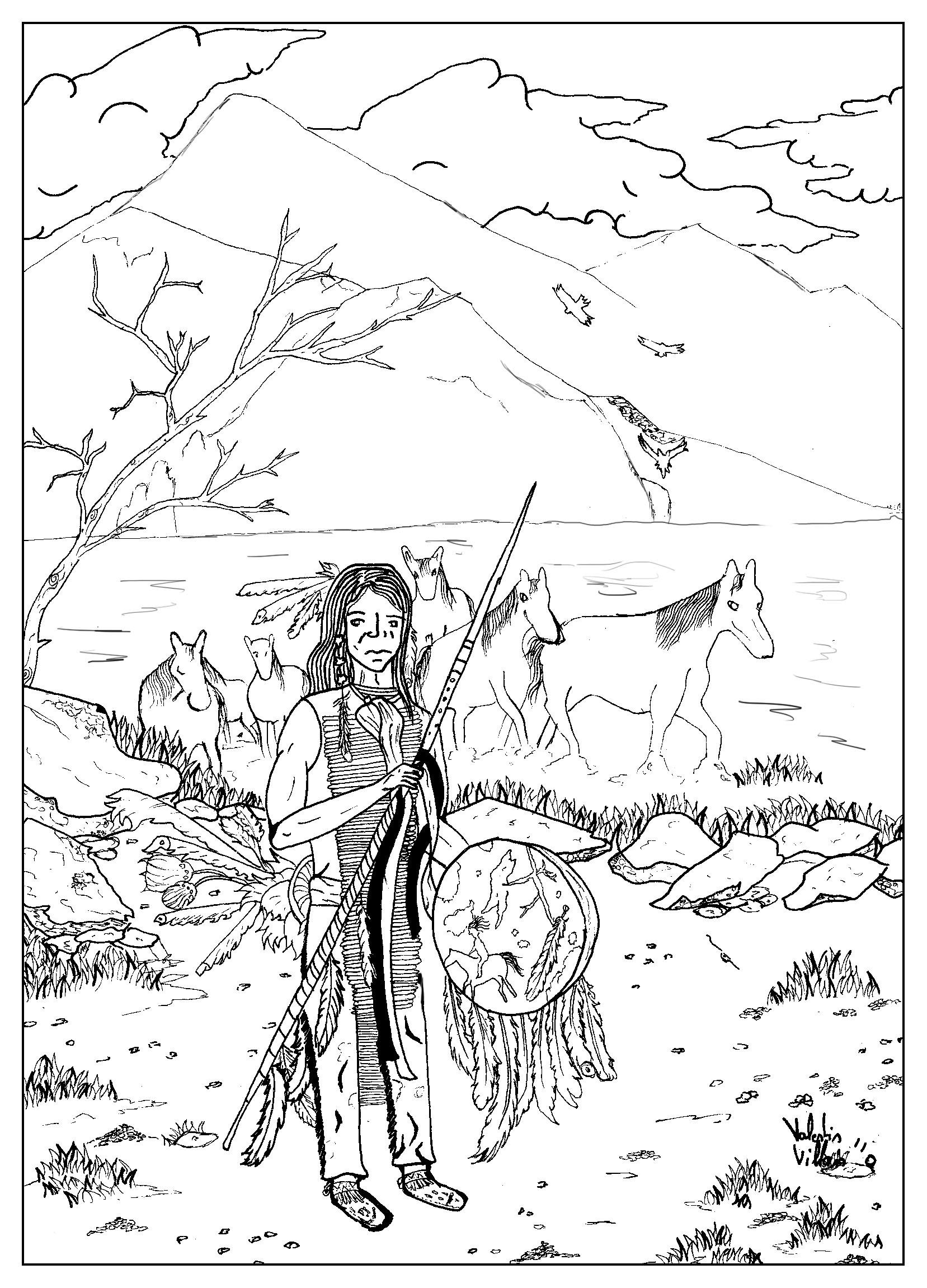 1657x2302 Draw Native American By Valentin Native American