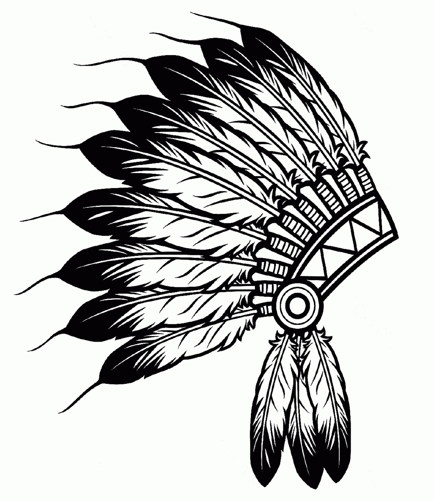 1400x1616 Free Coloring Pages Indian Chief New Native American Feathers Hat