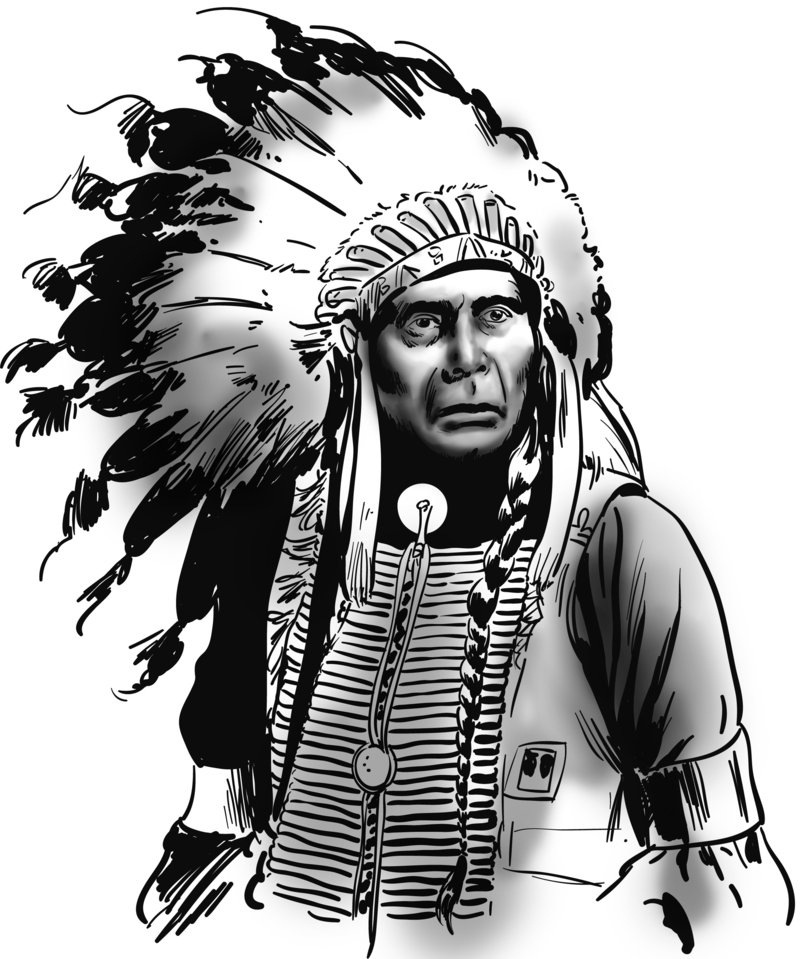 800x959 Indian Chief By Benitogallego