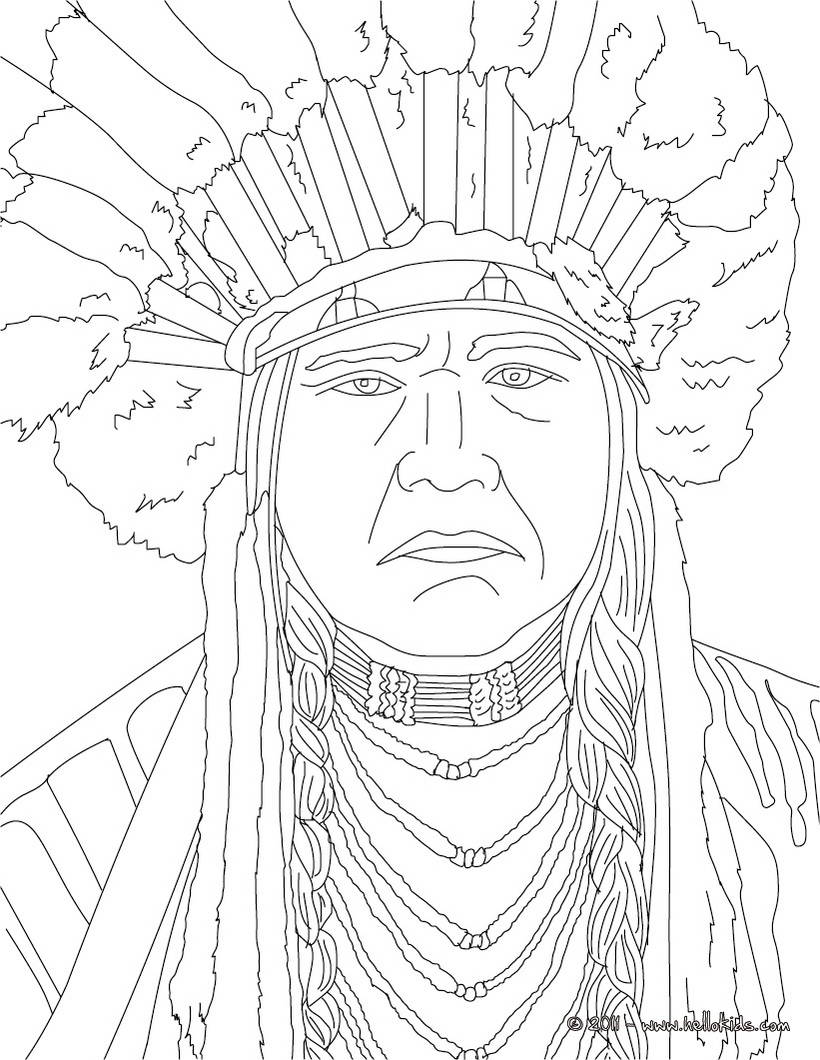 Native American Chief Drawing at GetDrawings.com | Free for personal ...
