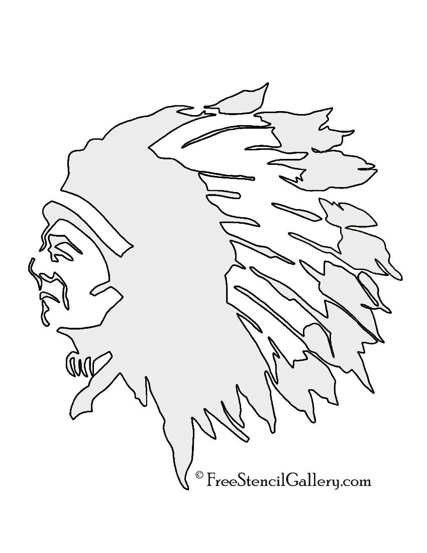 850x1100 Native American Chief Stencil Free Stencil Gallery