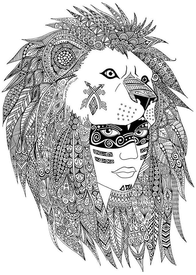 683x960 A Leader Of A Native American Tribe Maked With Heart