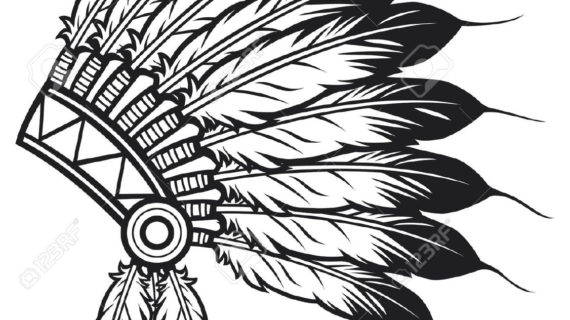 570x320 Native American Headdress Drawing Native American Indian Chief